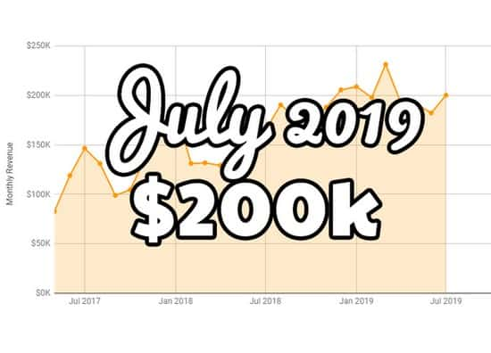 July FBA monthly update at $200K