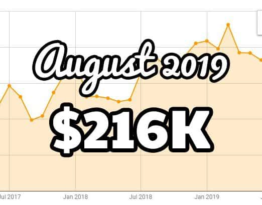 August FBA monthly update at $216K