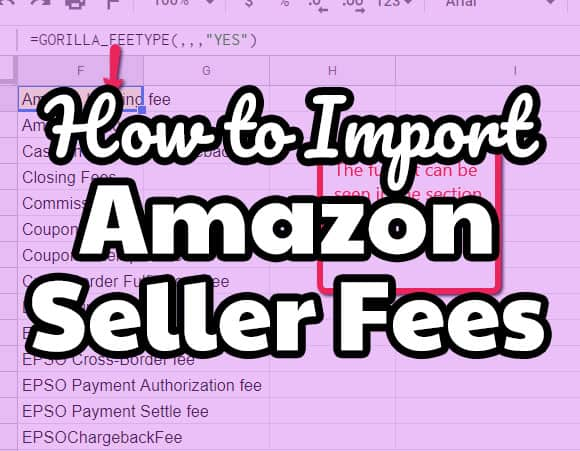How to import Amazon seller fees into Google Sheets