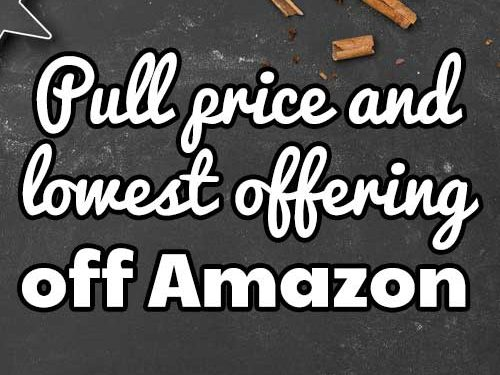 pull lowest price amazon listing