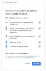 google sheets access