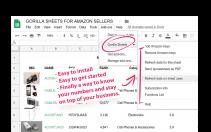 gorilla roi amazon google sheets add-on install