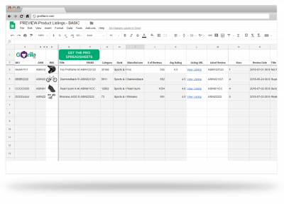 amazon google sheets spreadsheet template integration