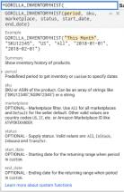 amazon inventory history