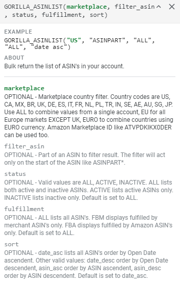 Pull Amazon Data into Google Sheets 1