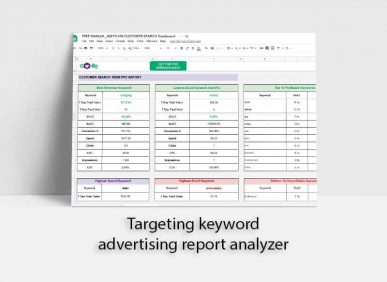 Advertising report spreadsheet analyzer fba