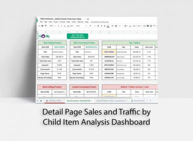 free amazon spreadsheet child sales stats traffic