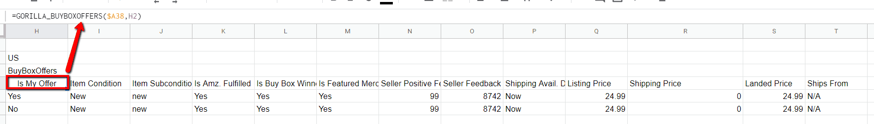 buyboxoffer data points fba