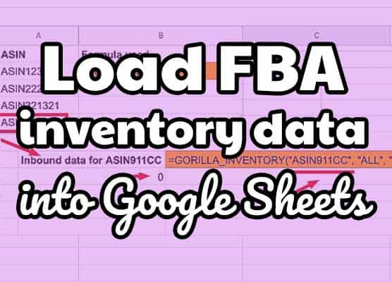 How to load FBA inventory data into Google Sheets