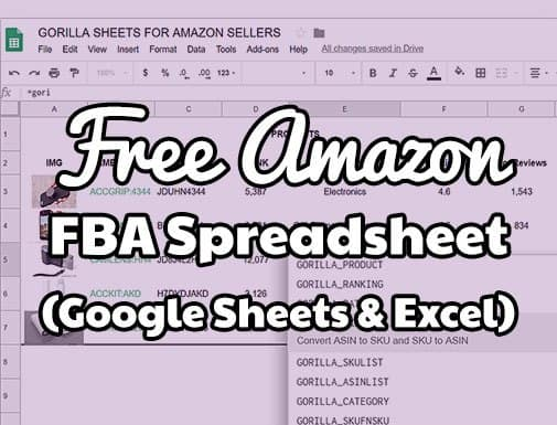 Free Amazon Fba Spreadsheet Template And Sales Analysis