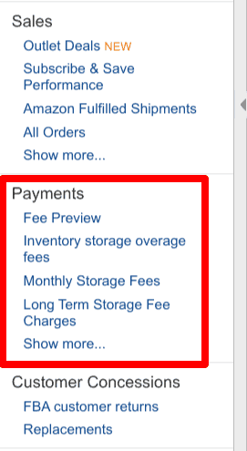 fba payment fee previews
